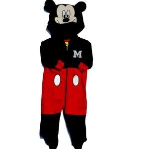 Disney Mickey Mouse Fleece Pjs   0-3 month